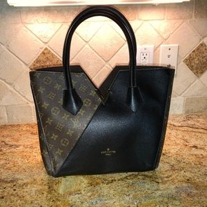 Brown and Black Tote Bag Brand Name Fake